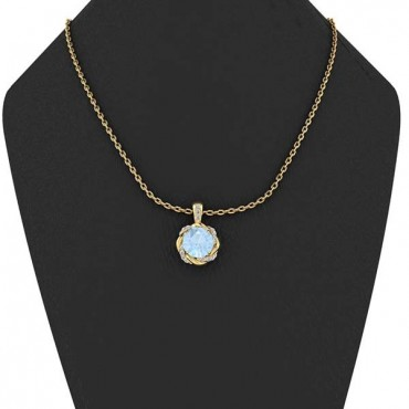 Megan Aquamarine Pendant - Yellow Gold