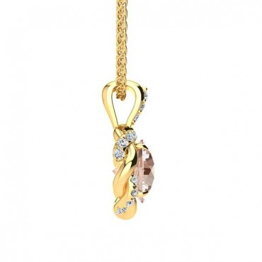 Megan Morganite Pendant - Yellow Gold