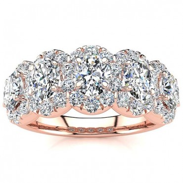 Melissa Diamond Ring - Rose Gold