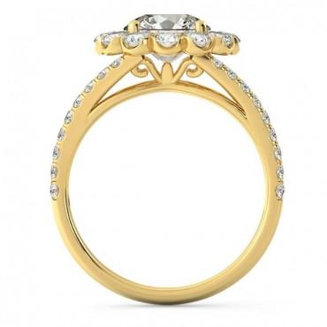 Milana Moissanite Ring - Yellow Gold