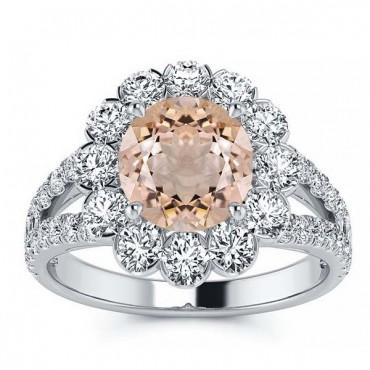 Milana Morganite Ring - White Gold