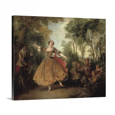Mlle Camargo Dancing Wall Art - Canvas - Gallery Wrap
