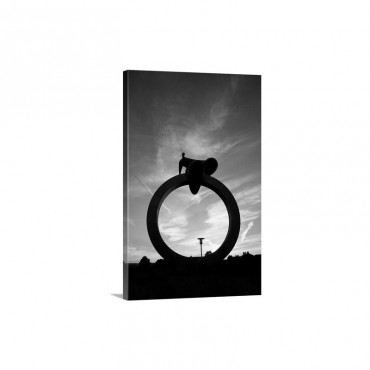 Modern Sculpture Carlow Town Ireland Wall Art - Canvas - Gallery Wrap