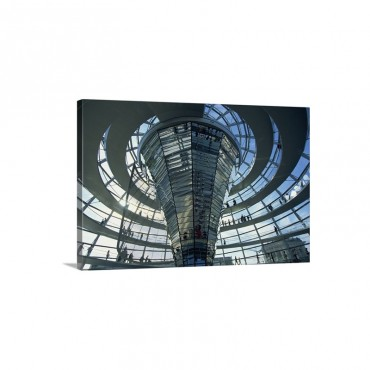 Modern Glass Building Reichstag Berlin Germany Europe Wall Art - Canvas - Gallery Wrap