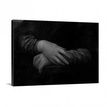 Mona Lisa Detail Of Her Hands C 1503 06 Wall Art - Canvas - Gallery Wrap