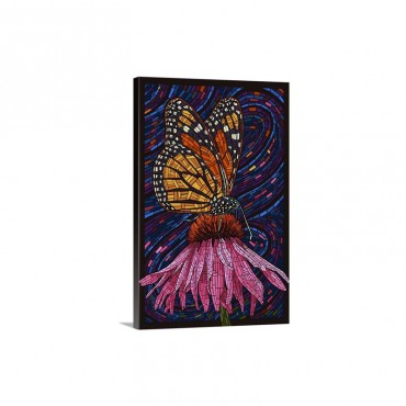 Monarch Butterfly Paper Mosaic Wall Art - Canvas - Gallery Wrap