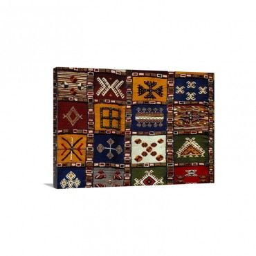 Morocco Marrakech Display Of Carpets Wall Art - Canvas - Gallery Wrap