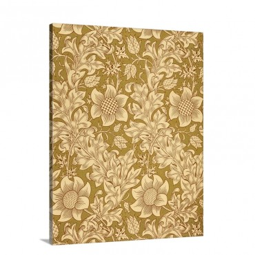 Morris Wallpaper Fritillary Design Wall Art - Canvas - Gallery Wrap