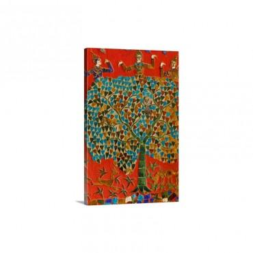 Mosaics In Wat Xieng Thong Luang Prabang Wall Art - Canvas - Gallery Wrap