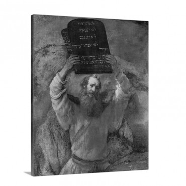 Moses Smashing The Tablets Of The Law 1659 Wall Art - Canvas - Gallery Wrap