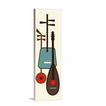 Musical Instruments 1 Wall Art - Canvas - Gallery Wrap