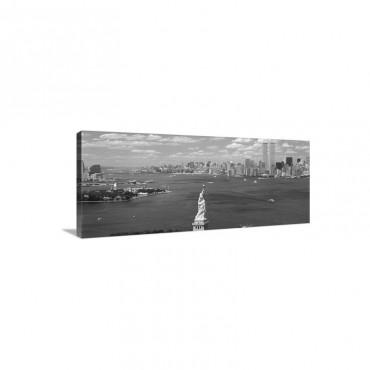 New York Harbor Statue Of Liberty New York NY Wall Art - Canvas - Gallery Wrap