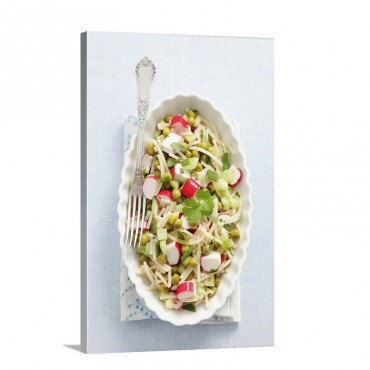 Noodle Salad With Surimi Cucumber Peas And Coriander Wall Art - Canvas - Gallery Wrap