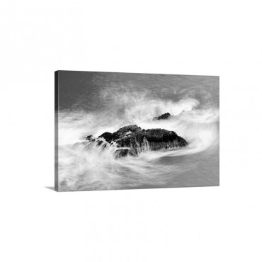 Ocean Motion Around A Rock At McWay Falls Wall Art - Canvas - Gallery Wrap
