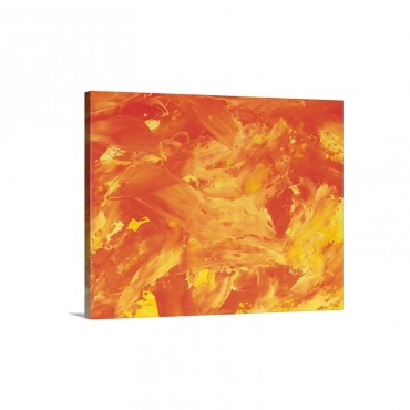 Oil Painting In Orange And Yellow Colors Front View Wall Art - Canvas - Gallery Wrap