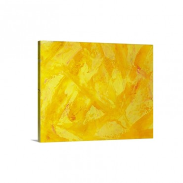 Oil Painting In Yellow And Orange Colors Front View Wall Art - Canvas - Gallery Wrap