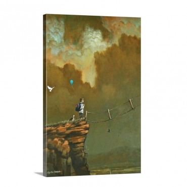 On The Ledge Wall Art - Canvas - Gallery Wrap