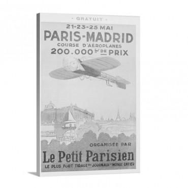 Paris Madrid Le Petit Parisien Vintage Poster Wall Art - Canvas - Gallery Wrap