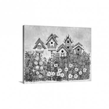 Patriotic Birdhouses Wall Art - Canvas - Gallery Wrap