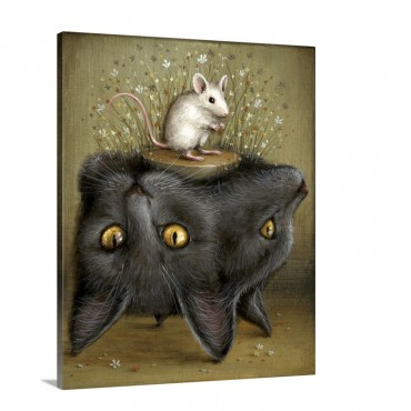 Perilous Pedestal Wall Art - Canvas - Gallery Wrap