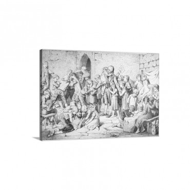 Pestalozzi Among The Orphans Wall Art - Canvas - Gallery Wrap