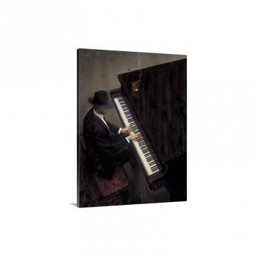 Piano Bar I Wall Art - Canvas - Gallery Wrap