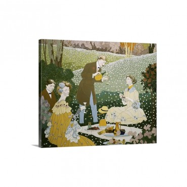 Picnic In Countryside Josep Pey I Farriol Wall Art - Canvas - Gallery Wrap