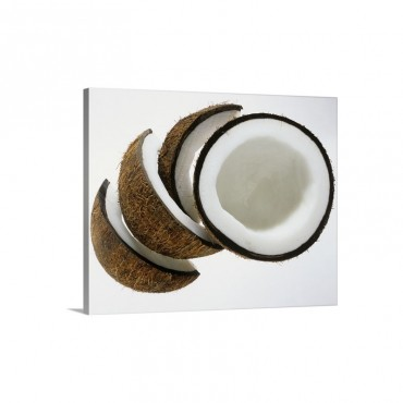 Pieces Of Coconut Wall Art - Canvas - Gallery Wrap