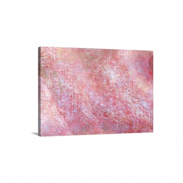 Pink Oil Painting Wall Art - Canvas - Galleey Wrap