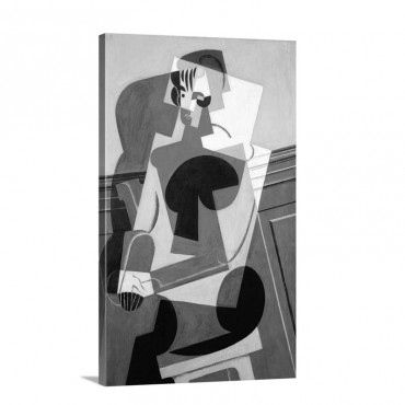 Portrait De Madame Josette Gris Portrait Of Josette Gris By Juan Gris Wall Art - Canvas - Gallery Wrap