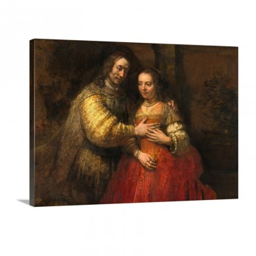 Portrait Of A Couple As Figures From The Old Testament Known As The Jewish Bride Wall Art - Canvas - Gallery Wrap