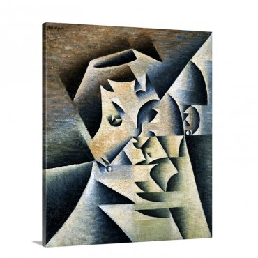 Portrait Of Josette By Juan Gris Wall Art - Canvas - Gallery Wrap