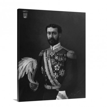 Portrait Painting Of The Count Of Montalbo In Uniform By Alfred De Dekez Wall Art - Canvas - Gallery Wrap