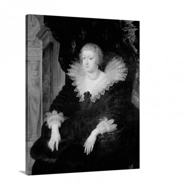 Portrait Of Anne Of Austria 1601 66 C 1622 Wall Art - Canvas - Gallery Wrap