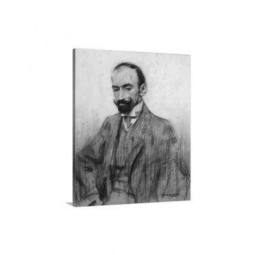 Portrait Of Jacinto Benavente Ca 1905 Wall Art - Canvas - Gallery Wrap