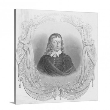 Portrait Of John Milton Wall Art - Canvas - Gallery Wrap