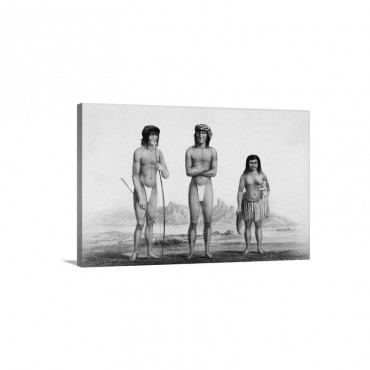 Portrait Of Mojave Indians Wall Art - Canvas - Gallery Wrap