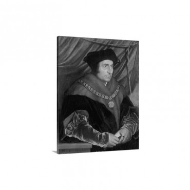 Portrait Of Sir Thomas More 1478 1535 Wall Art - Canvas - Gallery Wrap