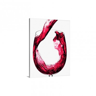 Pouring Red Wine Into A Glass Wall Art - Canvas - Gallery Wrap