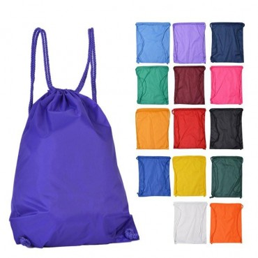 Nylon Cinch Drawstring Backpack - 2 Pieces