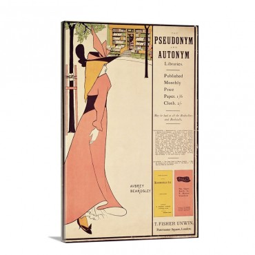 Publicity Poster For The Yellow Book Pub 1894 97 In London By John Lane Wall Art - Canvas - Gallery Wrap