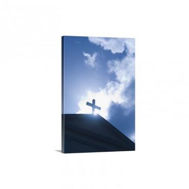 Puerto Rico Old San Juan Cross On Puerto Rico San Juan Cathedral Wall Art - Canvas - Gallery Wrap