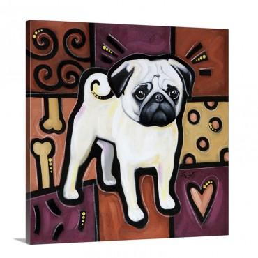Pug Pop Art Wall Art - Canvas - Gallery Wrap