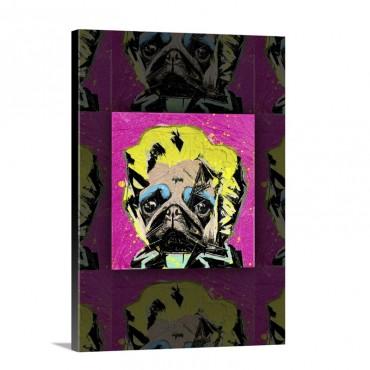 Pug Portrait Wall Art - Canvas - Gallery Wrap