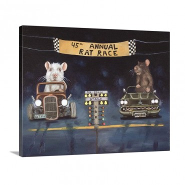 Rat Race I Wall Art - Canvas - Gallery Wrap