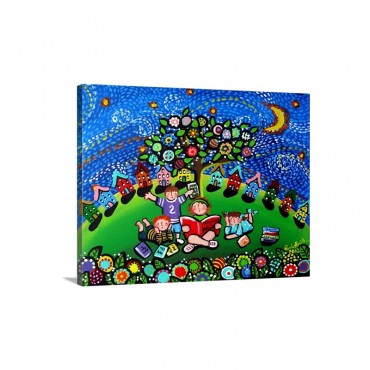 Reading Opens The Doors To The Imagination Wall Art - Canvas - Gallery Wrap