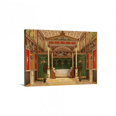 Reconstruction Of Roman Interior Wall Art - Canvas - Gallery Wrap