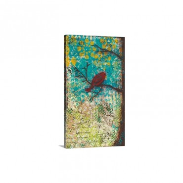 Red Bird Wall Art - Canvas - Gallery Wrap