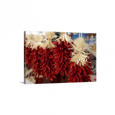 Red Chile Ristras In A Row In Santa Fe New Mexico Wall Art - Canvas - Gallery Wrap