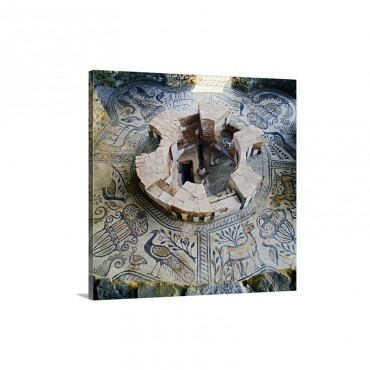Republic Of Macedonia Gradsko Ancient Stobi Baptistery And Floor With Mosaics Wall Art - Canvas - Gallery Wrap